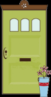 Shabby Green Door