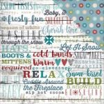 "Simple Stories - Snow Patrol - Double-Sided Cardstock 12""X12"" - Snow Day"